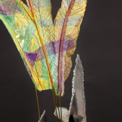 Four Green Feathers detail 1